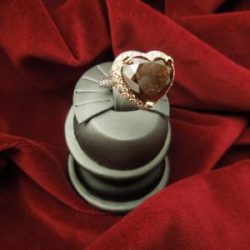 Platinum & 18KT Yellow Gold Heart Shaped 8.5 carat Red Diamond Ring