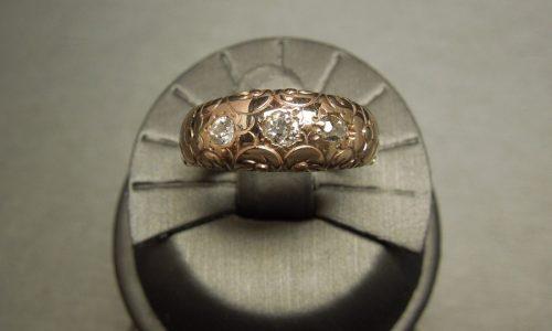 victorian rose gold diamond