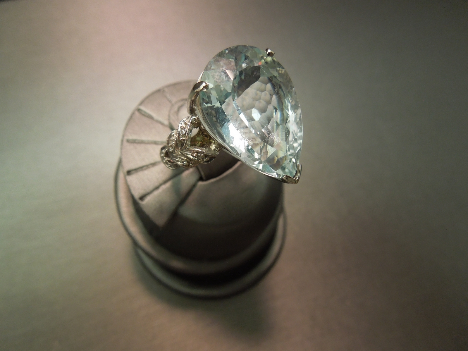 Vintage Aquamarine Cocktail Ring